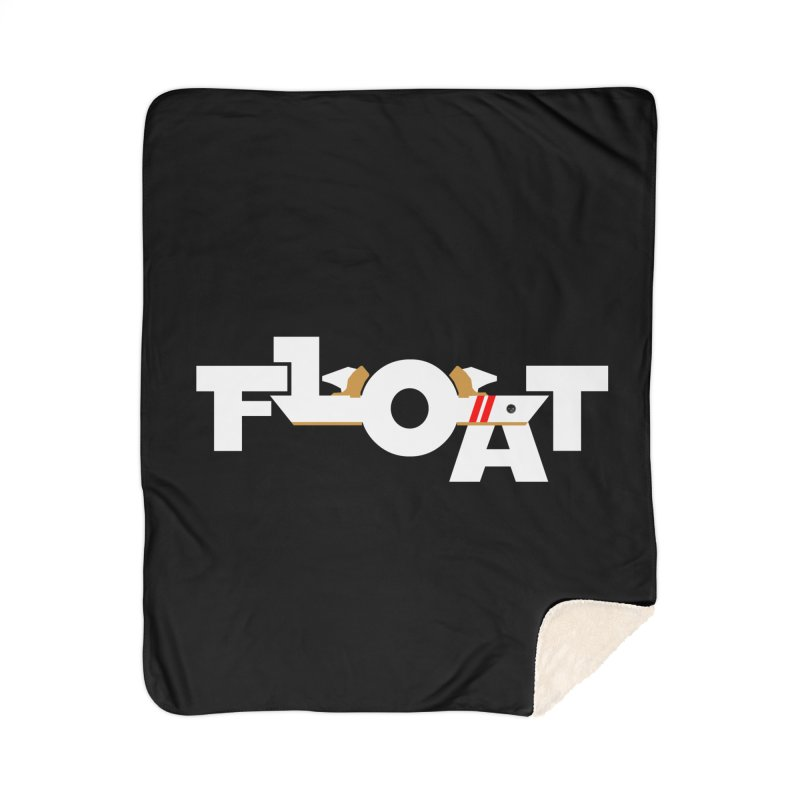 Float - Onewheel - OG White Red Goldy with Flight Fins Home Blanket by Onewheel Artist Shop