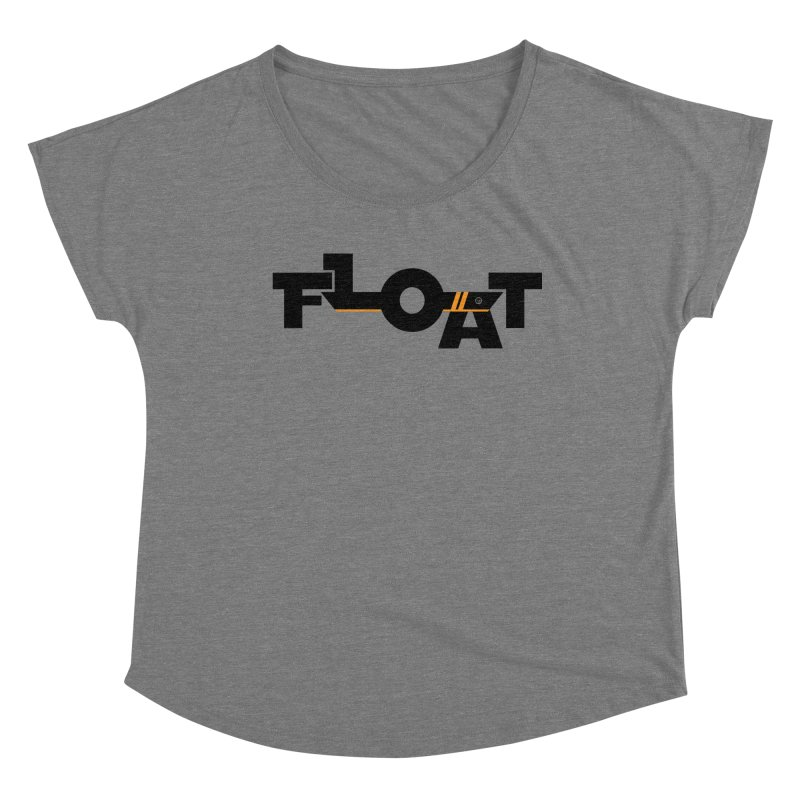 Float - Onewheel - Black / Orange Women's Scoop Neck by Onewheel Artist Shop