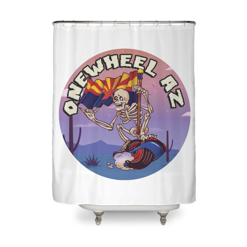 Onewheel AZ - Designed by Adam Dumper Home Shower Curtain by Onewheel Artist Shop