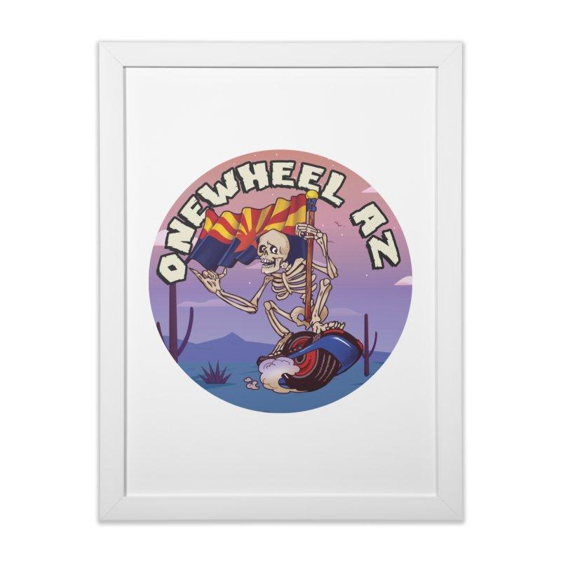 Onewheel AZ - Designed by Adam Dumper Home Framed Fine Art Print by Onewheel Artist Shop