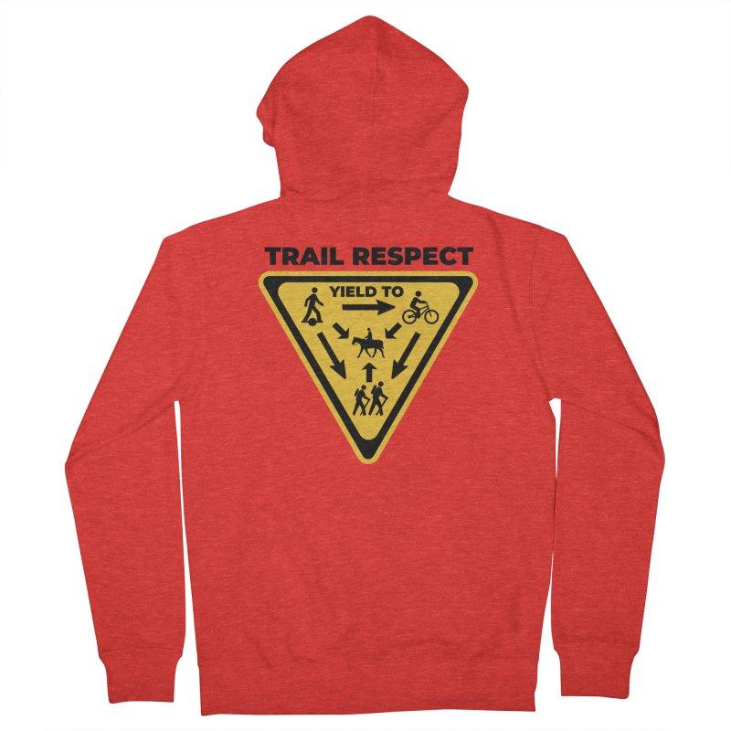 Trail Respect Men's Zip-Up Hoody by Onewheel Artist Shop