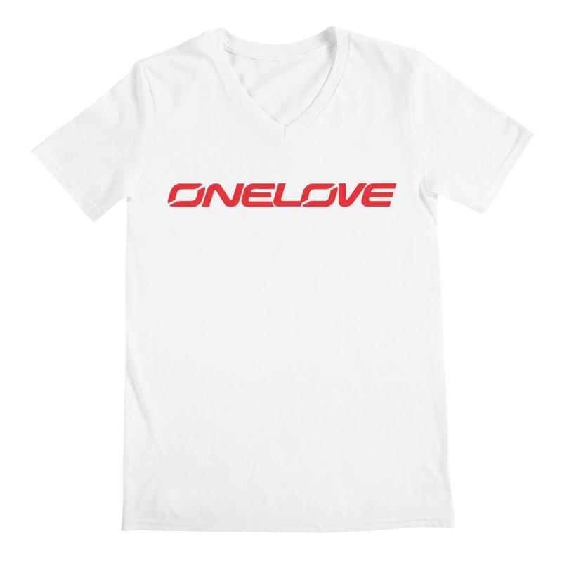 Onelove - Onewheel - Red Men's V-Neck by Onewheel Artist Shop