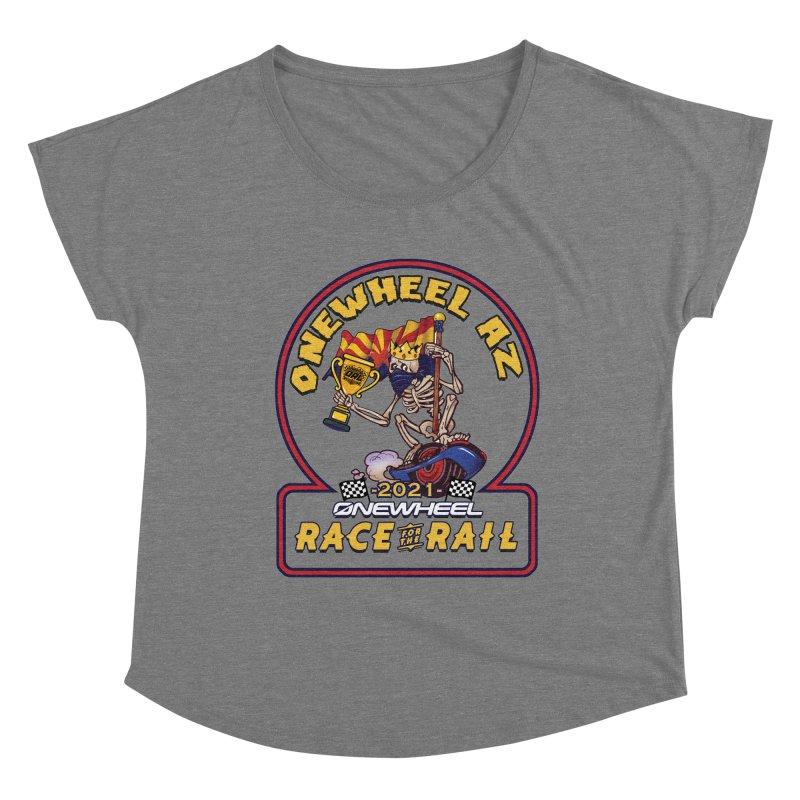 Race for the Rail 2021 Onewheel AZ Edition Women's Scoop Neck by Onewheel Artist Shop