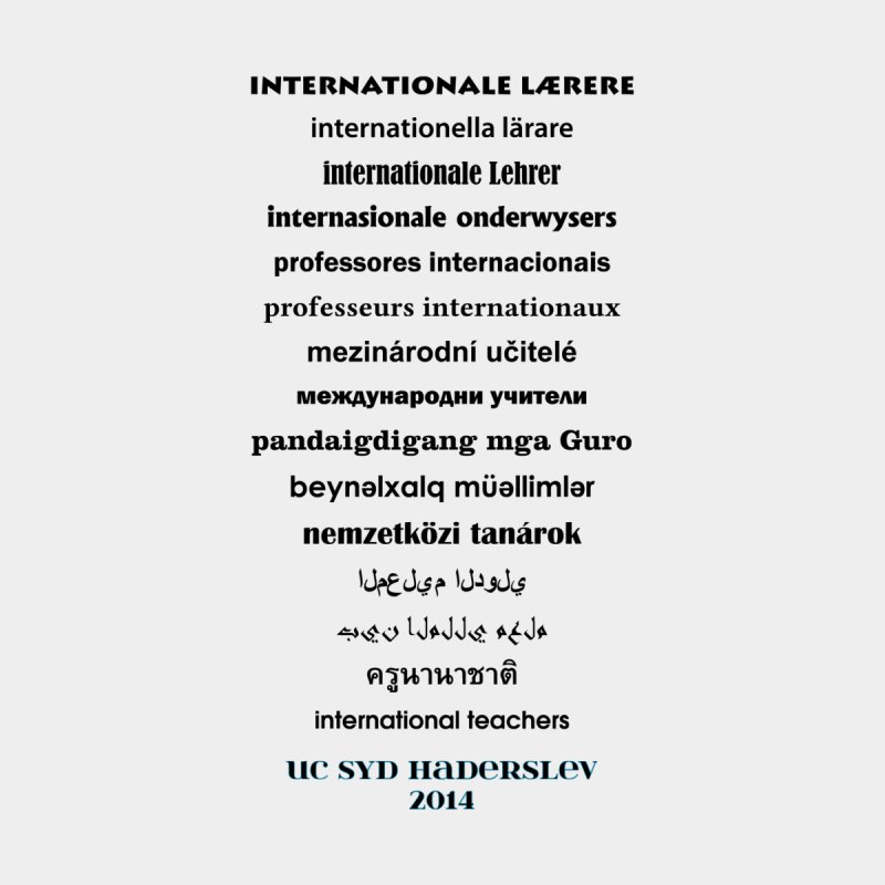 International Teachers 2014 (light) by oni's Artist Shop