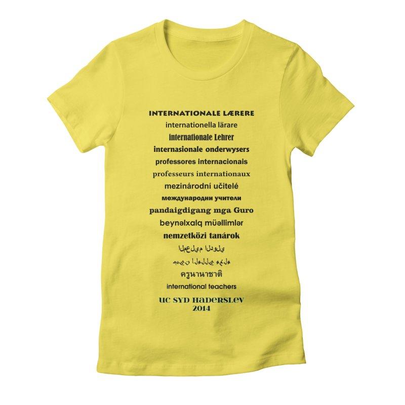 International Teachers 2014 (light) Women's Fitted T-Shirt by oni's Artist Shop