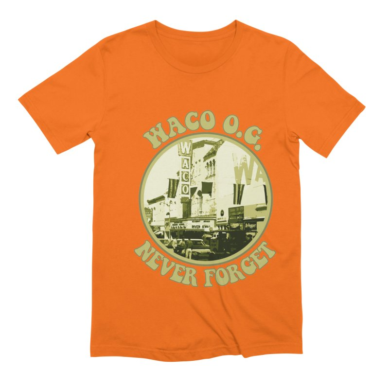 Waco OG Downtown Waco Theater Men's Extra Soft T-Shirt by OniiChan's Artist Shop