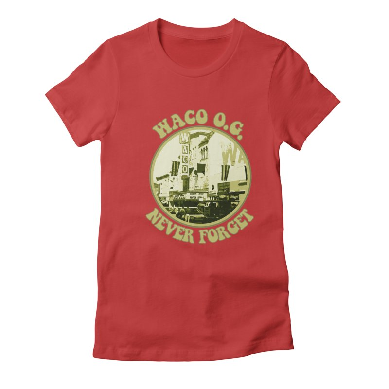 Waco OG Downtown Waco Theater Women's Fitted T-Shirt by OniiChan's Artist Shop