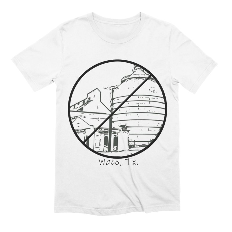 No Silos Waco Texas (Black Graphic) Men's Extra Soft T-Shirt by OniiChan's Artist Shop