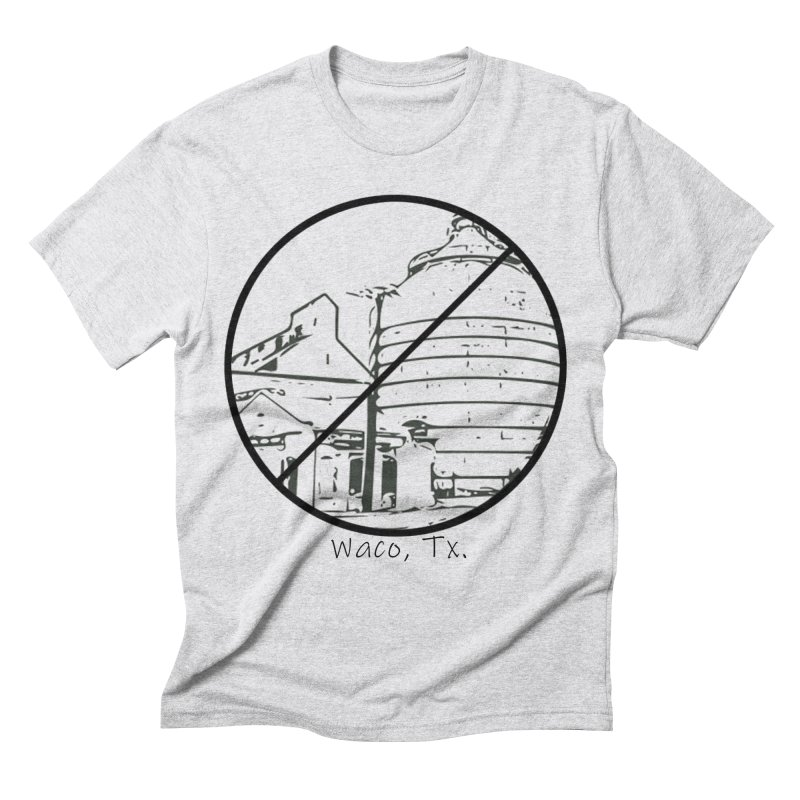 No Silos Waco Texas (Black Graphic) Men's Triblend T-Shirt by OniiChan's Artist Shop