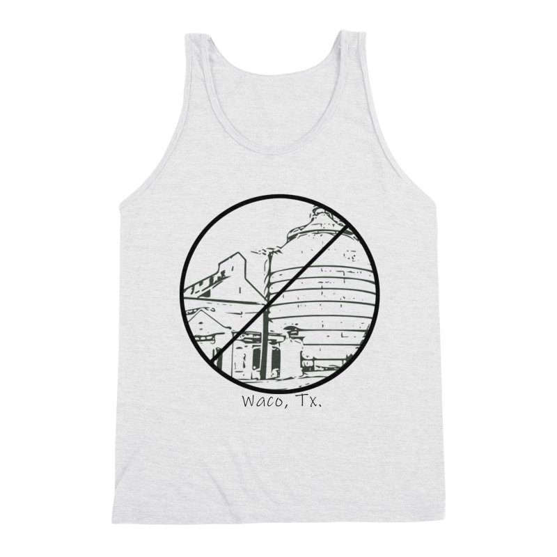 No Silos Waco Texas (Black Graphic) Men's Triblend Tank by OniiChan's Artist Shop