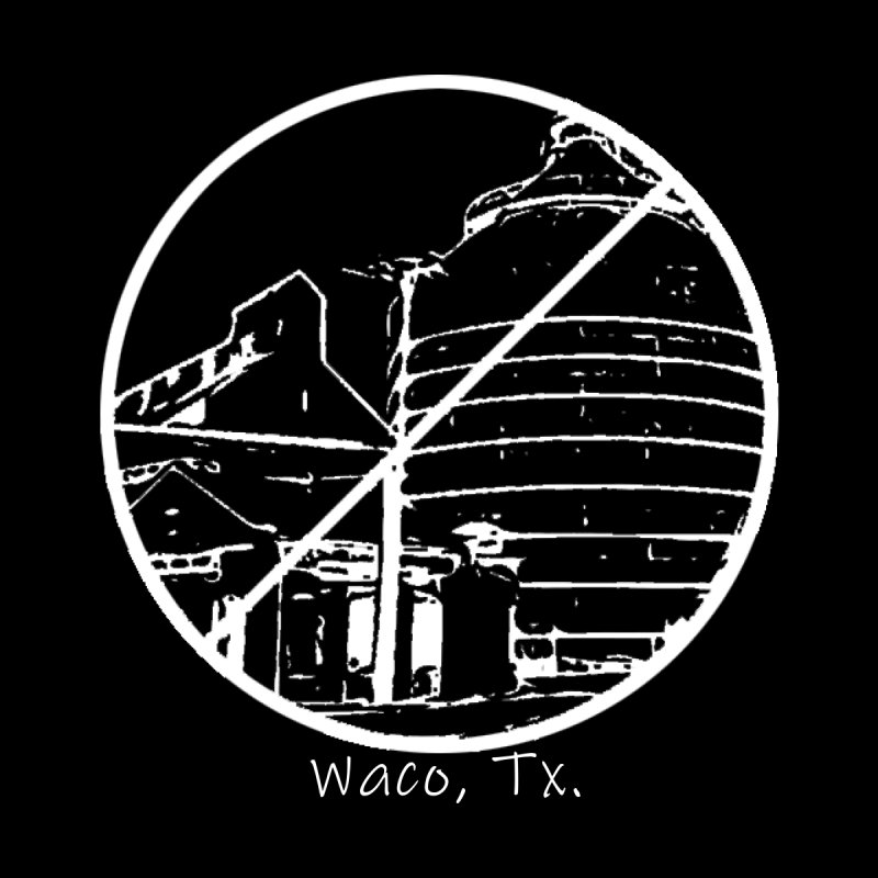 No Silos Waco Texas (White Graphic) Men's T-Shirt by OniiChan's Artist Shop