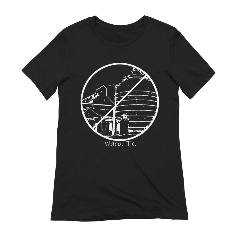 No Silos Waco Texas (White Graphic) Women's Extra Soft T-Shirt by OniiChan's Artist Shop
