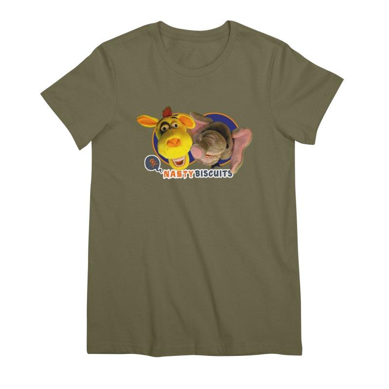 Nasty Biscuits Women's Premium T-Shirt by OniiChan's Artist Shop