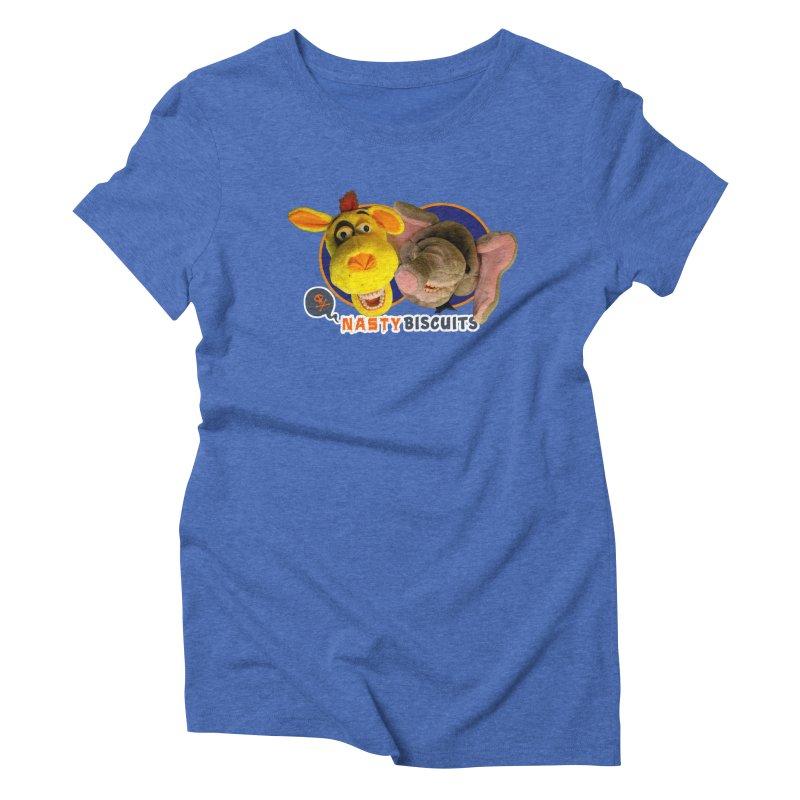 Nasty Biscuits Women's Triblend T-Shirt by OniiChan's Artist Shop