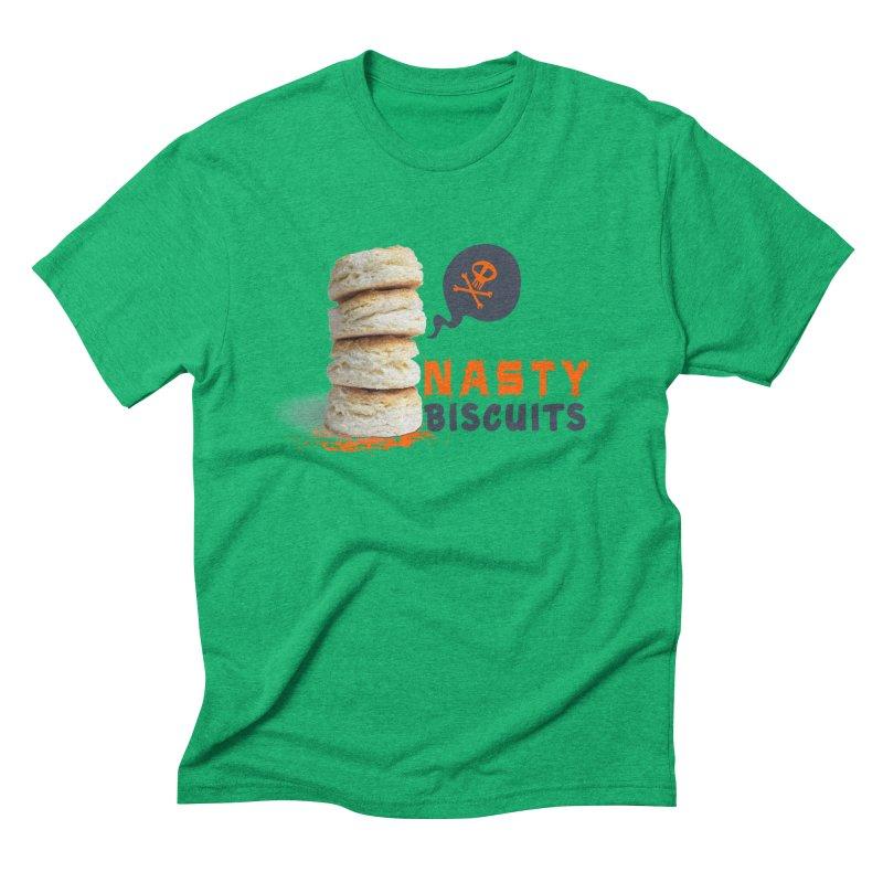 Nasty Biscuits Logo Men's Triblend T-Shirt by OniiChan's Artist Shop