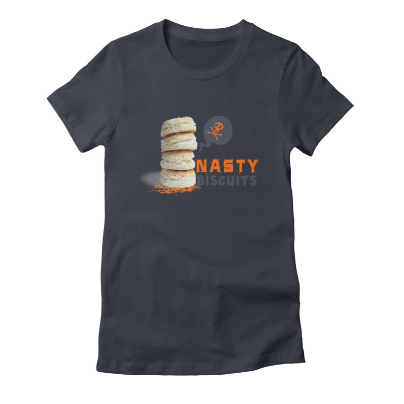 Nasty Biscuits Logo Women's Fitted T-Shirt by OniiChan's Artist Shop