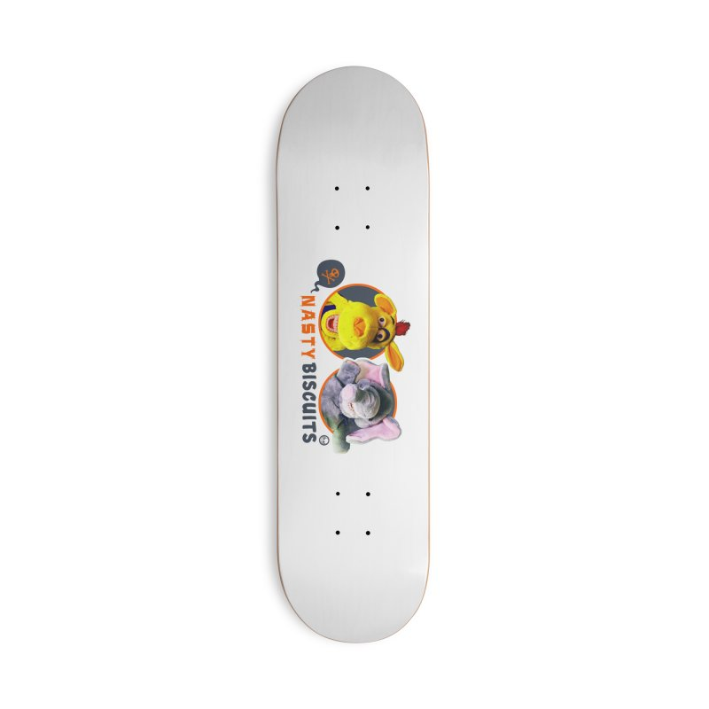 Nasty Biscuits Logo Accessories Deck Only Skateboard by OniiChan's Artist Shop