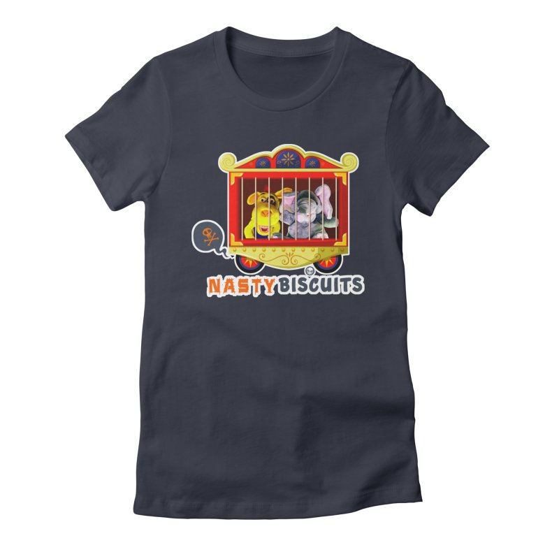 Nasty Biscuits Circus Women's Fitted T-Shirt by OniiChan's Artist Shop