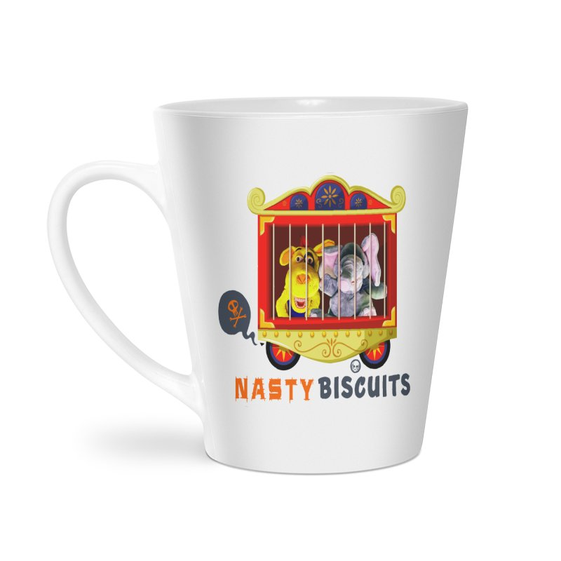 Nasty Biscuits Circus Accessories Latte Mug by OniiChan's Artist Shop