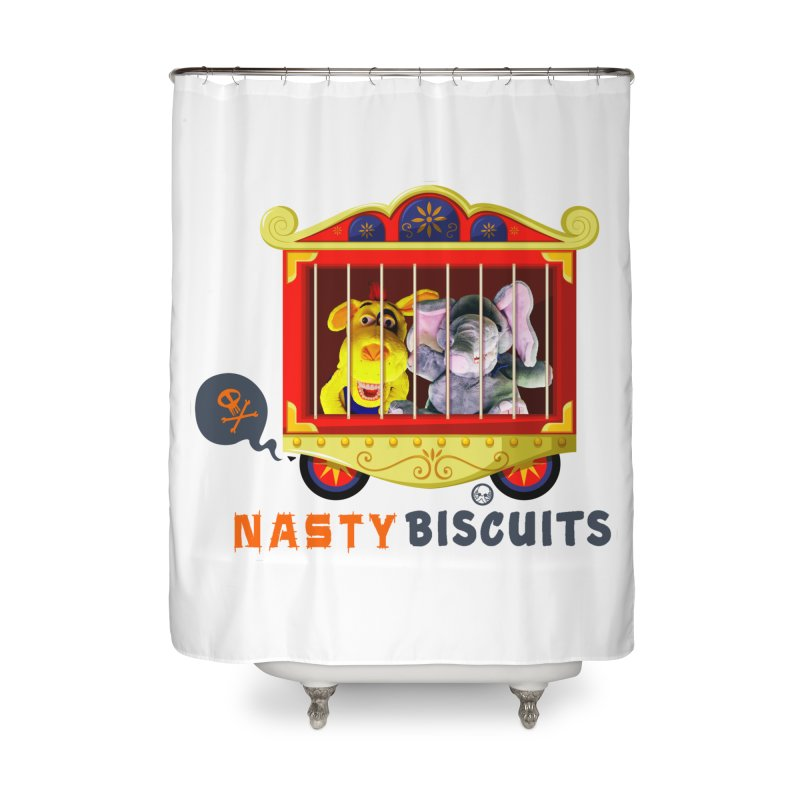Nasty Biscuits Circus Home Shower Curtain by OniiChan's Artist Shop