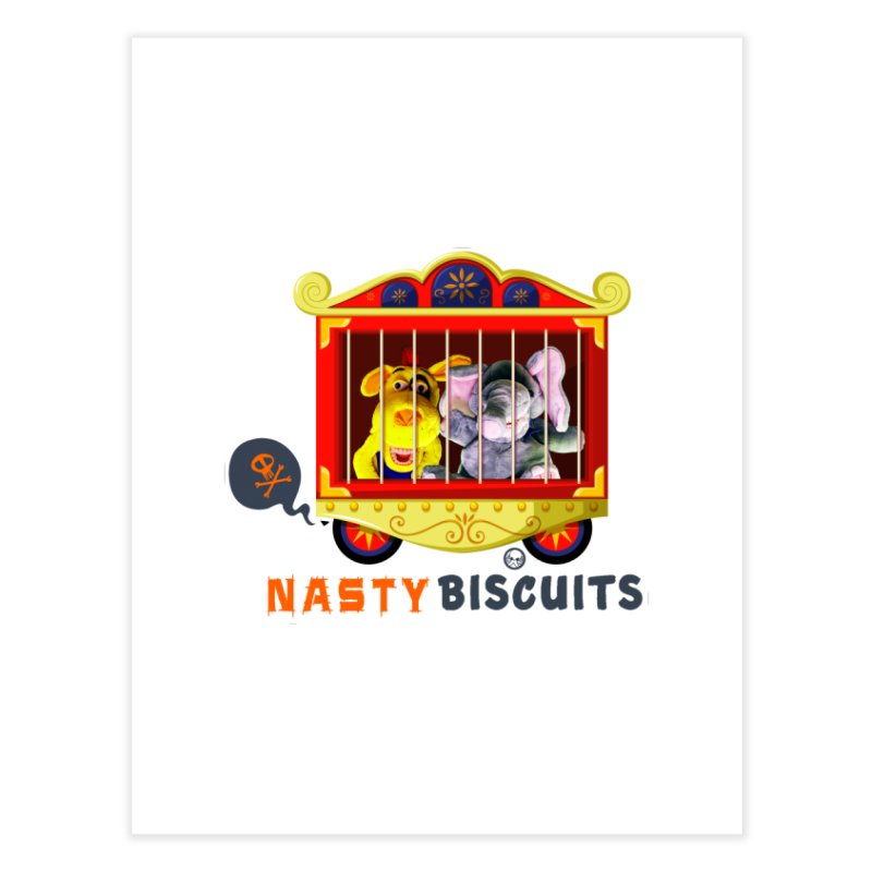 Nasty Biscuits Circus Home Fine Art Print by OniiChan's Artist Shop