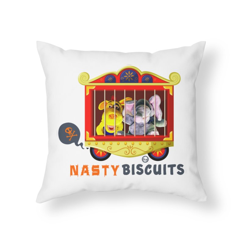 Nasty Biscuits Circus Home Throw Pillow by OniiChan's Artist Shop