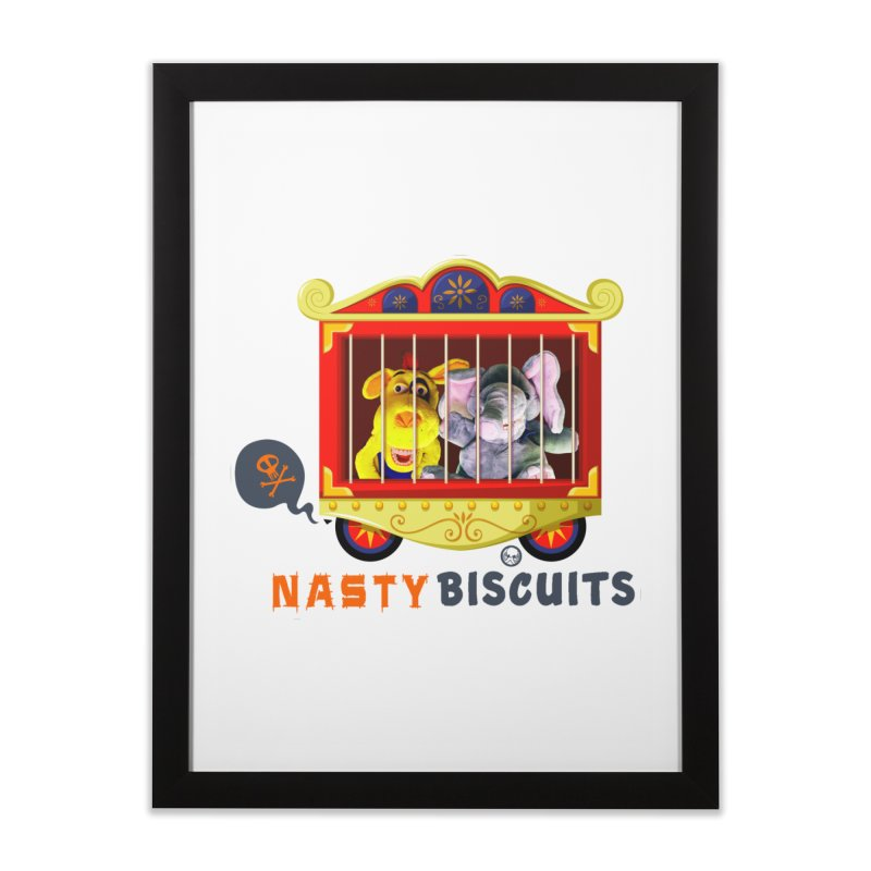 Nasty Biscuits Circus Home Framed Fine Art Print by OniiChan's Artist Shop