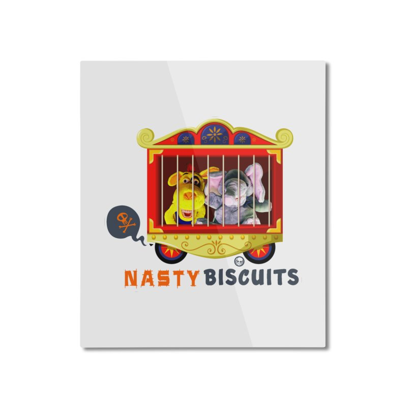 Nasty Biscuits Circus Home Mounted Aluminum Print by OniiChan's Artist Shop