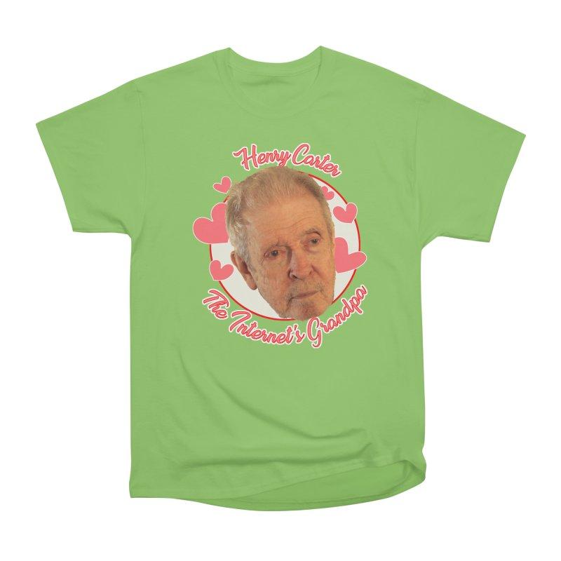 Henry Carter The Internet's Grandpa Women's Heavyweight Unisex T-Shirt by OniiChan's Artist Shop