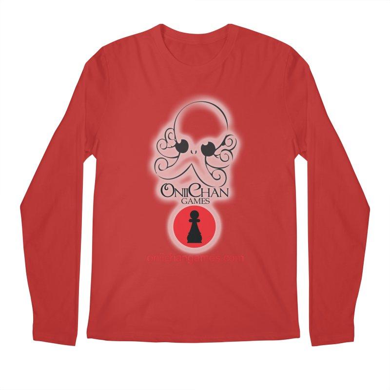 OniiChan Games Glow Logo Men's Regular Longsleeve T-Shirt by OniiChan's Artist Shop