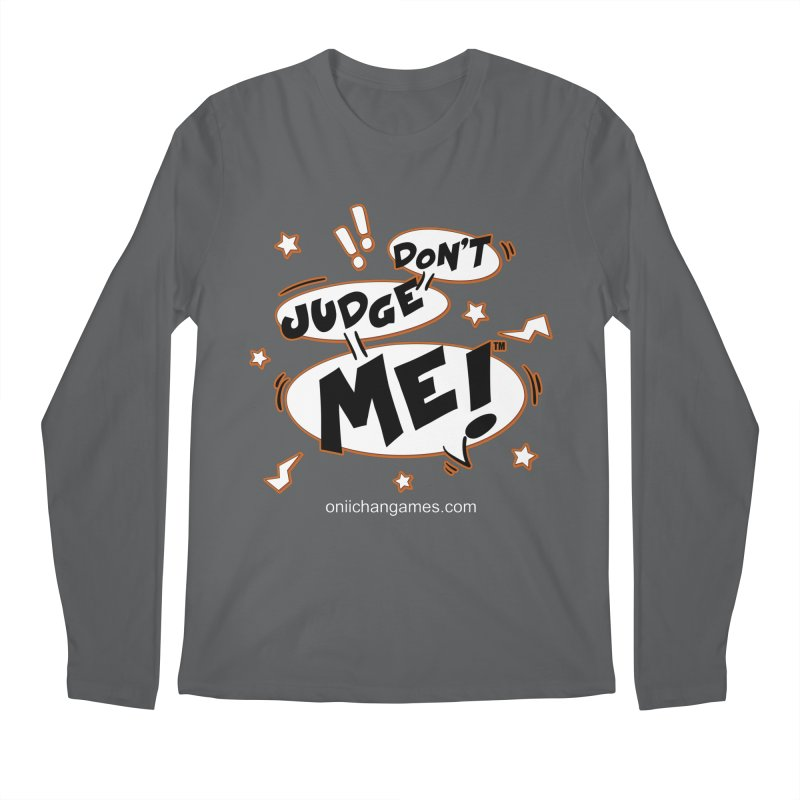 Don't Judge Me! Card Game Men's Longsleeve T-Shirt by OniiChan's Artist Shop
