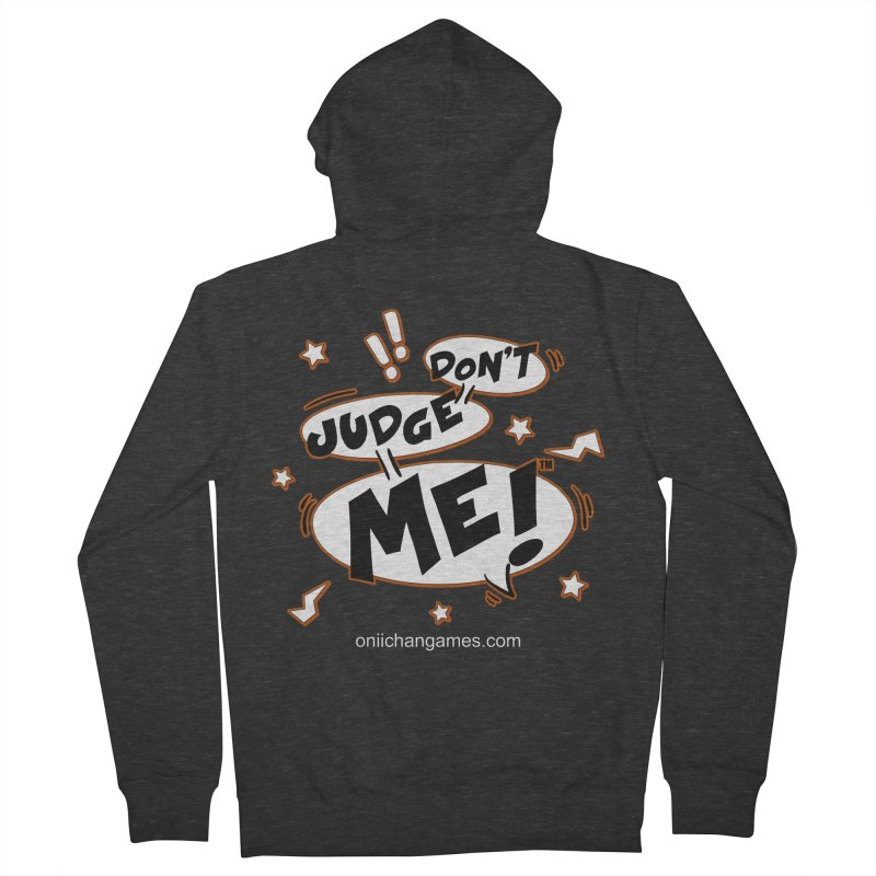 Don't Judge Me! Card Game Men's French Terry Zip-Up Hoody by OniiChan's Artist Shop