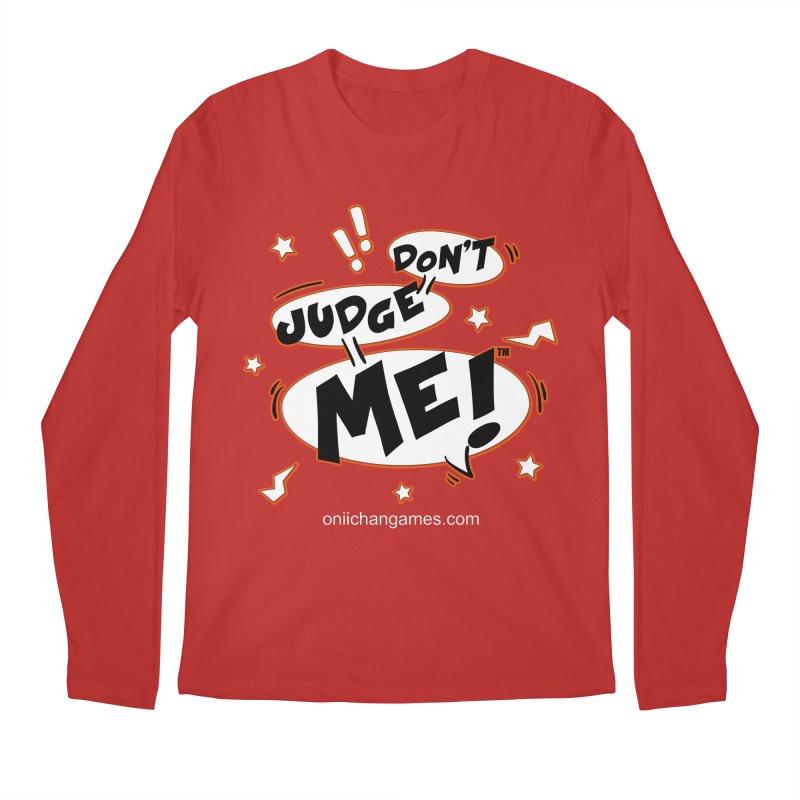 Don't Judge Me! Card Game Men's Regular Longsleeve T-Shirt by OniiChan's Artist Shop