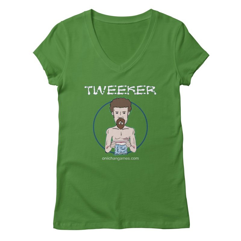 Tweeker Card Game Women's V-Neck by OniiChan's Artist Shop