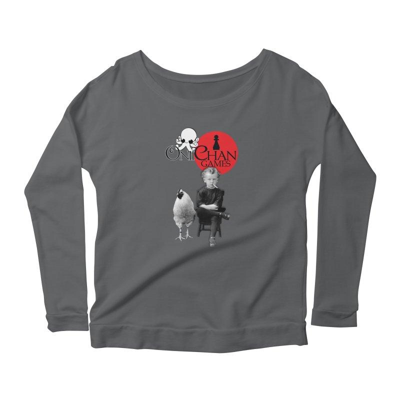 Oniichan Chicken Boy Women's Scoop Neck Longsleeve T-Shirt by OniiChan's Artist Shop
