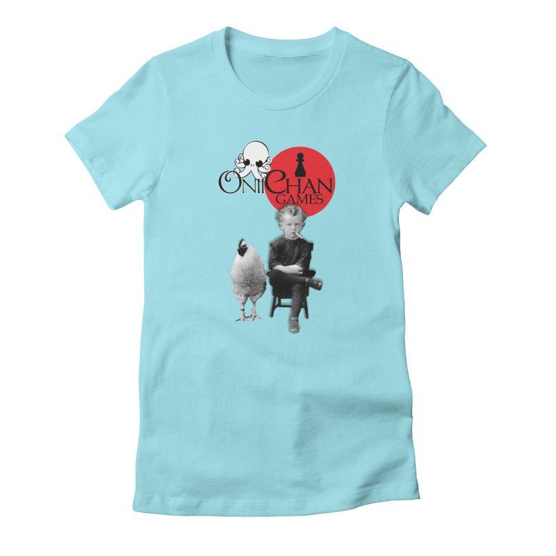 Oniichan Chicken Boy Women's Fitted T-Shirt by OniiChan's Artist Shop