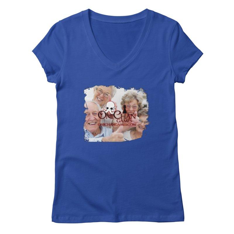 Oldest Fans Women's V-Neck by OniiChan's Artist Shop