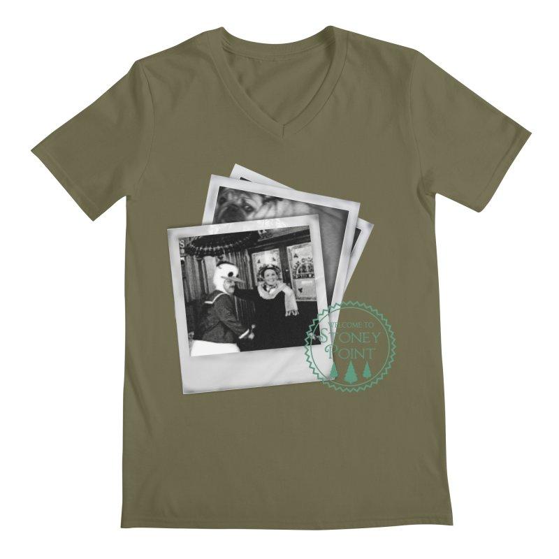 Stoney Point Polaroids Men's Regular V-Neck by OniiChan's Artist Shop