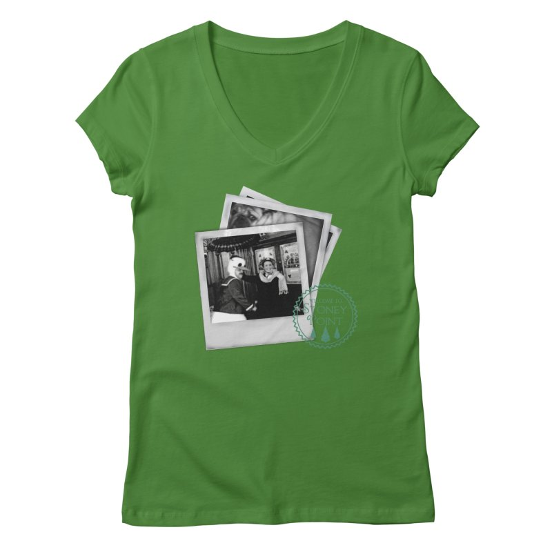 Stoney Point Polaroids Women's Regular V-Neck by OniiChan's Artist Shop
