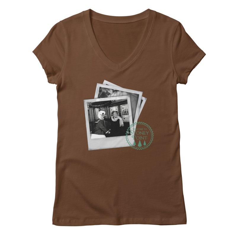 Stoney Point Polaroids Women's V-Neck by OniiChan's Artist Shop