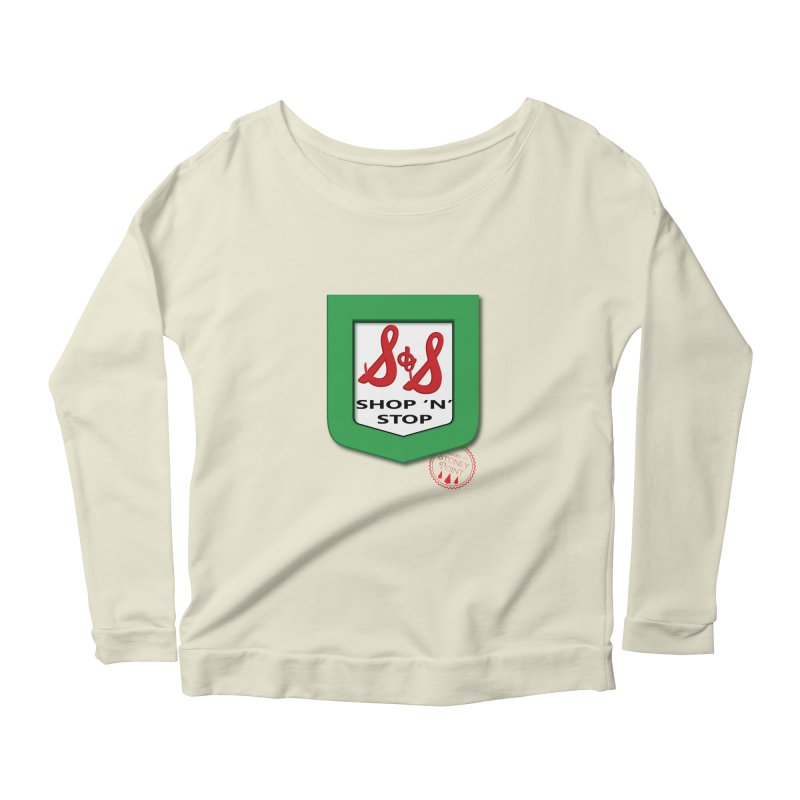 Shop N Stop! Women's Longsleeve Scoopneck  by OniiChan's Artist Shop