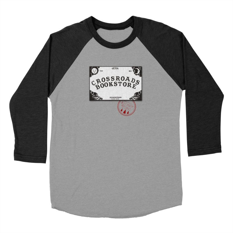 Crossroads Bookstore Women's Baseball Triblend Longsleeve T-Shirt by OniiChan's Artist Shop