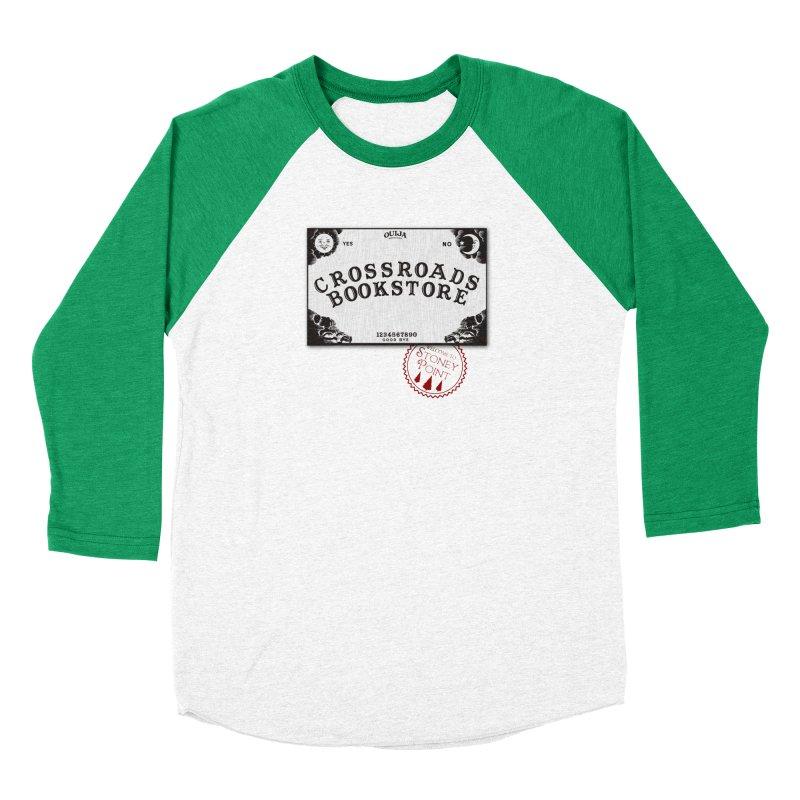 Crossroads Bookstore Men's Baseball Triblend Longsleeve T-Shirt by OniiChan's Artist Shop