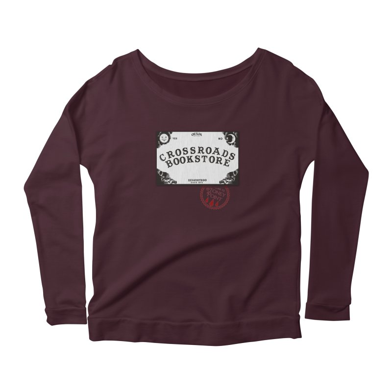 Crossroads Bookstore Women's Longsleeve Scoopneck  by OniiChan's Artist Shop