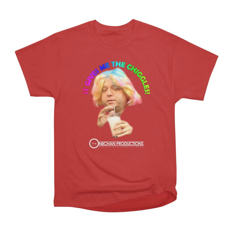 It Gives Me the Chiggles! Women's Heavyweight Unisex T-Shirt by OniiChan's Artist Shop