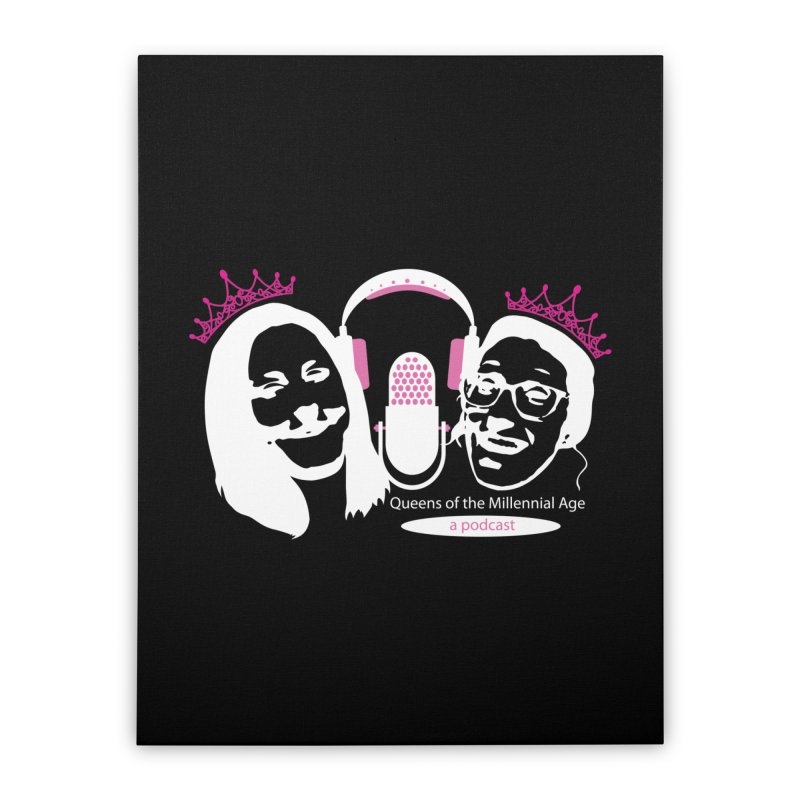 Queens of the Millennial Age Podcast Home Stretched Canvas by OniiChan's Artist Shop