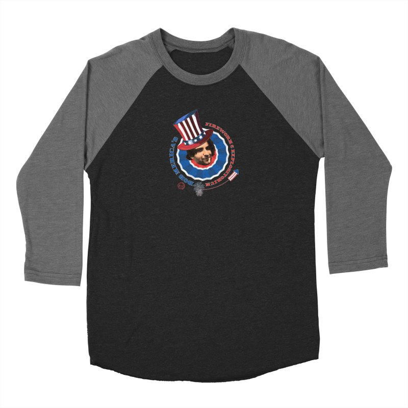 Bob Merica Women's Baseball Triblend Longsleeve T-Shirt by OniiChan's Artist Shop