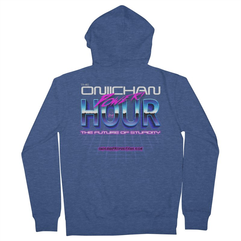Oniichan Power Hour Men's French Terry Zip-Up Hoody by OniiChan's Artist Shop