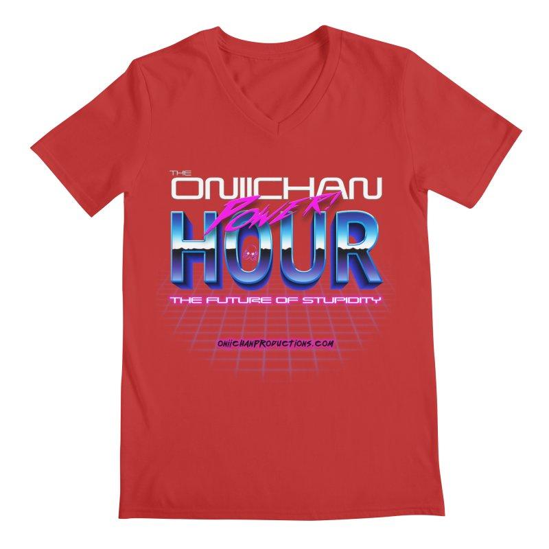 Oniichan Power Hour Men's Regular V-Neck by OniiChan's Artist Shop