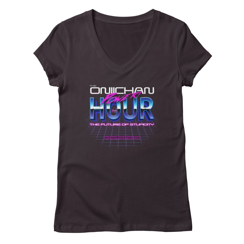 Oniichan Power Hour Women's Regular V-Neck by OniiChan's Artist Shop